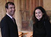 Camille Latimier et Ivo Vykydal, président de l'Association de soutien des personnes handicapées mentales