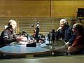 Michal Mocek und Rudolf Hermann im Studio von Radio Prag