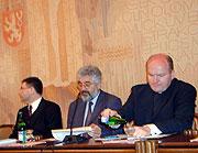 Daniel Herman, Leo Pavlat und Lubomir Zaoralek (v.r.n.l.)