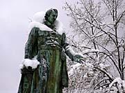 La statue de Goethe à Marianské Lázně