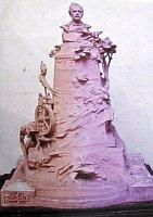 Z finančních důvodů nerealizovaný námět památníku K.J. Erbena od Ladislava Šalouna (k vidění v rodném domku)
