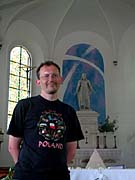 Old Catholic priest Roland Solloch in his church, photo: Jan Richter
