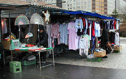 Market stall in Prague