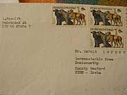 A letter from Ludvik Vaculik to Gerry Turner, photo: Linda Mastalir