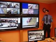 Operační středisko městské policie v Litvínově (Foto: Eva Holá)