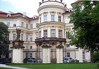 The German embassy in Prague