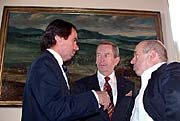 José Maria Aznar, Vaclav Havel, Natan Sharansky, photo: Christian Rühmkorf