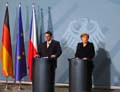 Premierminister Jiri Paroubek und Bundeskanzlerin Angela Merkel (Foto: Autor)