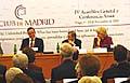 Außenminister Cyril Svoboda (links), Expräsident Vaclav Havel, ehemaliger Premierminister Kanadas und heutige Generalsekretärin Kim Campbell (Foto: Autor)