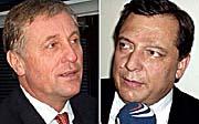 ODS-Vorsitzender Mirek Topolanek (links) und CSSD-Vorsitzender Jiri Paroubek