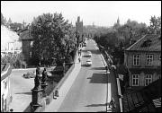 Traffic on Charles Bridge in 1960s