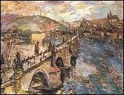 Charles Bridge by Oskar Kokoschka (1934, National Gallery)