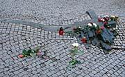 Jan Palach's memorial on Wenceslav Square