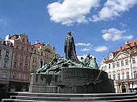 Jan Hus statue in Prague
