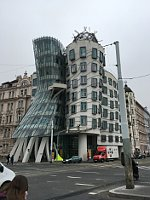 The Dancing House stands beside U Dvou tisíc, photo: Ian Willoughby