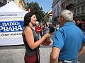 Radiodifusin  de la redaccin rusa - Asya Chekanova (izq.), foto: Jindich Jenek