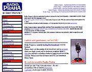 Internetseiten von Radio Prag in den 1990er Jahren