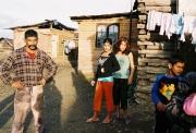 Romové v osadě Letanovce na Slovensku (Foto: Petr Axmann)