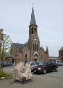 Kostel v Liberchies, kde byl pokřtěn Django (Foto: Jana Šustová)
