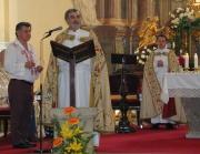 Pater Miloš Raban (uprostřed) na pouti ke sv. Sáře