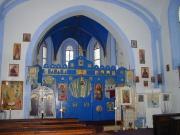 Interiér pravoslavného chrámu v Rokycanech