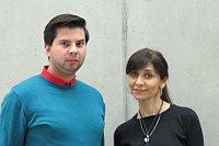 Kněz Vojtěch Vágai a redaktorka Iveta Demeterová (Foto: Kristýna Maková)