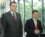 Český premiér Petr Nečas a jeho makedonský protějšek Nikola Gruevski (Foto: Jana Šustová)