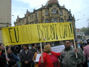 Demonstrace proti Jiřímu Čunkovi