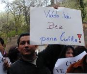 Účastník demonstrace (Foto: Jana Šustová)