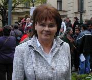 Hana Orgoníková na demonstraci (Foto: Jana Šustová)