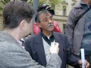 Čeněk Růžička hovoří s novináři (Foto: Jana Šustová)