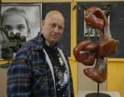 Gérard Gartner u svých soch (Foto: Jana Šustová)