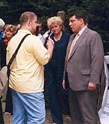 Jiří Paroubek (vpravo) hovoří s Janem Mišurcem