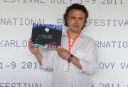 46. filmový festival Karlovy Vary, cena nestatutární poroty udělila cenu za film Cigán, režie Martin Šulík (Foto: Filip Jandourek)