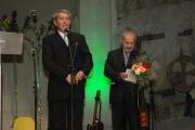Ladislav Goral a Karel Holomek při vyhlašování Cen Gypsy Spirit (Foto: Jana Šustová)