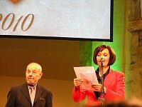 Karel Holomek při vyhlášení Cen Gypsy Spirit (Foto: Kristýna Maková)