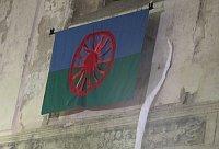 Romská vlajka, foto: Kristýna Maková