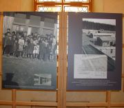 Exhibit of photographs in the foyer of the Czech Senate