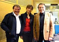 Antonín Gondolán, Iveta Demeterová a Karel Gott ve studiu Českého rozhlasu (Foto: Kristýna Maková)