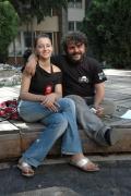 Emilia Paunescu a ředitel festivalu Adrian Voichitescu