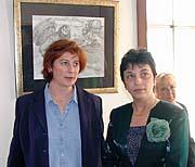 Katalin Kállai (vpravo) s tlumočnicí