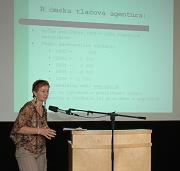 Kristína Magdolenová na semináři Romové a média (Foto: J. Šustová)