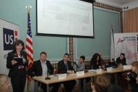 Britská velvyslankyně Sian MacLeod (vlevo) na konferenci Roma positive (Foto: Jana Šustová)