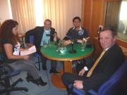 Jiří Čunek, Vojtěch Lavička a Ivan Gabal s moderátorkou Jarmilou Balážovou ve studiu Šestky (Foto: Dana Josefová)