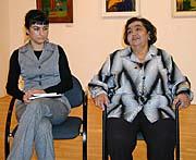 Ředitelka Muzea romské kultury Jana Horváthová (vlevo) a Emilie Machálková, foto: Jana Šustová