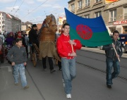 Průvod Brnem k Mezinárodnímu dni Romů (Foto: Jana Šustová)