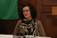 Iveta Kokyová čte ukázky ze své literární tvorby (Foto: Jana Šustová)