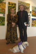 Malířka Ceija Stojka a Jan Litomiský v Muzeu romské kultury (Foto: Jana Šustová)