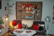 Romský obývací pokoj na výstavě Moderně z tradice (Foto: Jana Šustová)