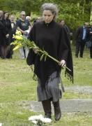 Gwendolyn Albertová na pietním aktu v Letech u Písku (Foto: Jana Šustová)